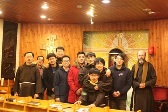 5 Young men begin their journey into Capuchin Life in Korea