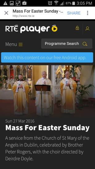 Watch the Easter Ceremonies from Church St. celebrating 400 years of Capuchin Life in Ireland