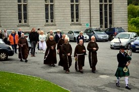 Procession to the graves of Br Albert, Br Dominic, Br Columbas and the other Capuchins buried in Rochestown