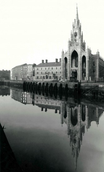 Holy Trinity Church and the adjoining Capuchin Friary, Cork, c.1960