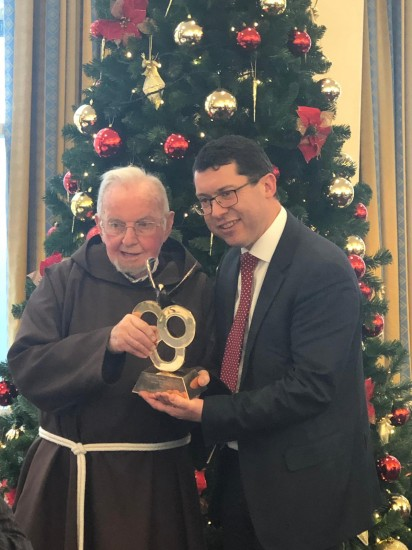 Brother Kevin receives the Oireachtas Human Dignity Award