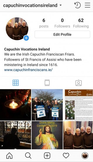 Follow Capuchin Vocations on Instagram