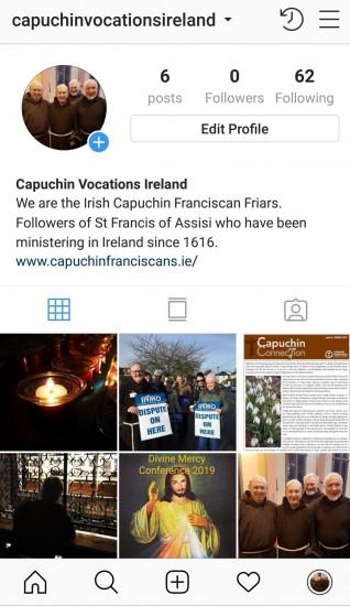 Follow Capuchin Vocations on Instagram