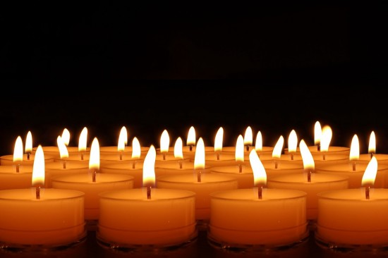 The candles are lit...