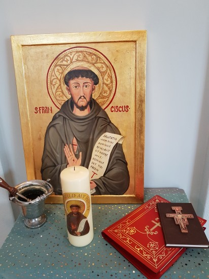 Our Chapter symbols including the icon presented to the Capuchin Day Centre by Pope Francis