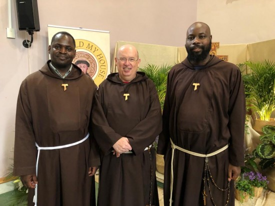 Our new Provincial Minister - Brother Seán Kelly (Centre) with Brother Abel (Left) and Brother Augustine from the Custody of Zambia.