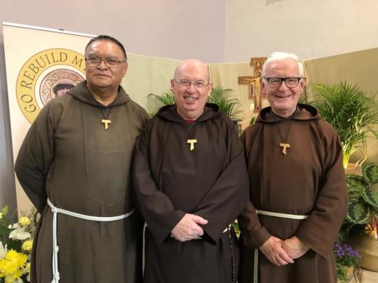 Br Seán Kelly (Centre) with Br Paul (Left) and Brother Maithiu - New Zealand
