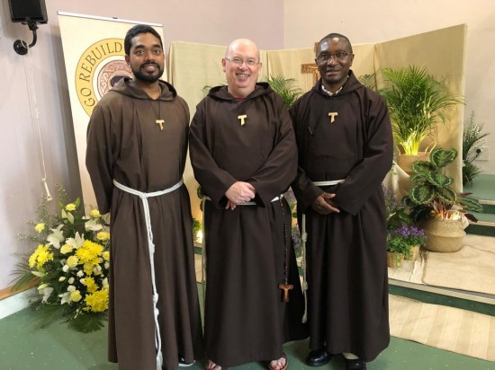 Br Seán Kelly (Centre) with Br Ansey (Left) and Br Odillo from South Africa