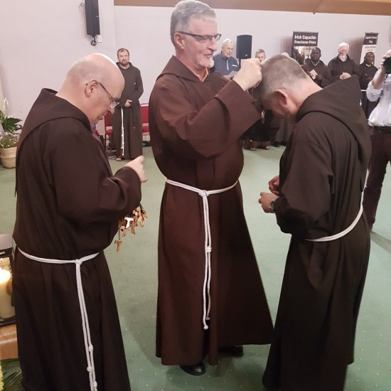 Each Friar received a Tau Cross from the General Minister as a sign of our commitment to our Capuchin Franciscan way of life.