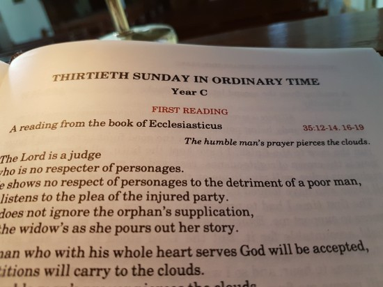 Gospel Reflection - 30 Sunday in Ordinary Time, Year C