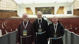 The delegates of the Irish Province, Brothers Michael, Terence and Pius