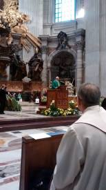 Pope Francis preaching to the friars.