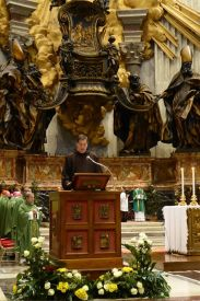 Brother Mark, one of the members of the General Council proclaims the Word of God.