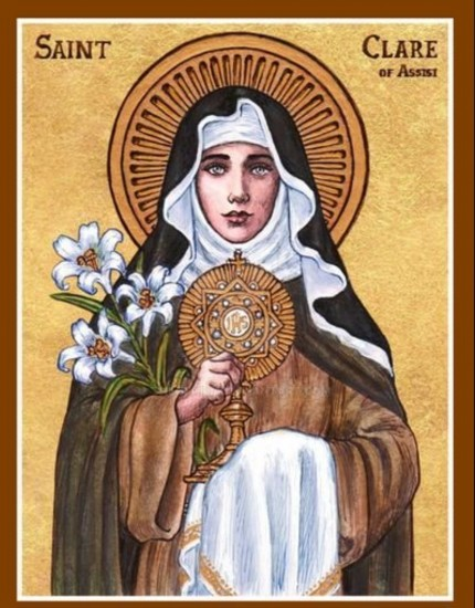 Greetings on the Feast of St Clare